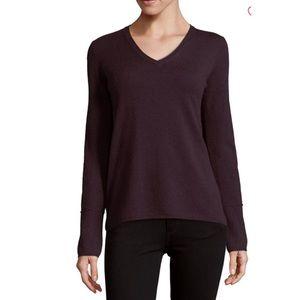 NWT Inhabit Cashmere Double Back Vneck Sweater